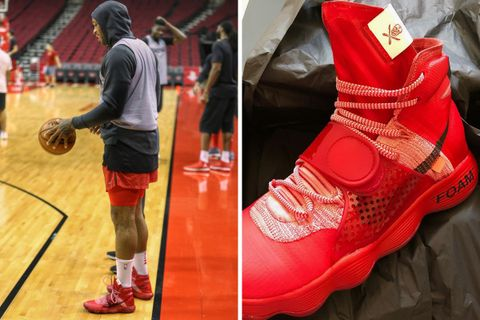 low priced 80017 ea015 P.J. Tucker Debuts Custom Virgil Abloh x Nike Hyperdunks
