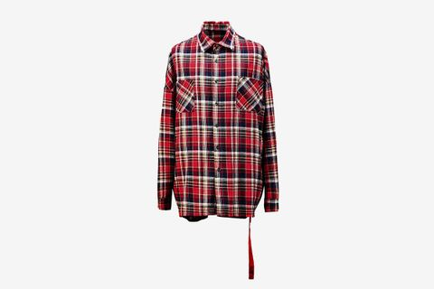 Side Zipper Check Flannel