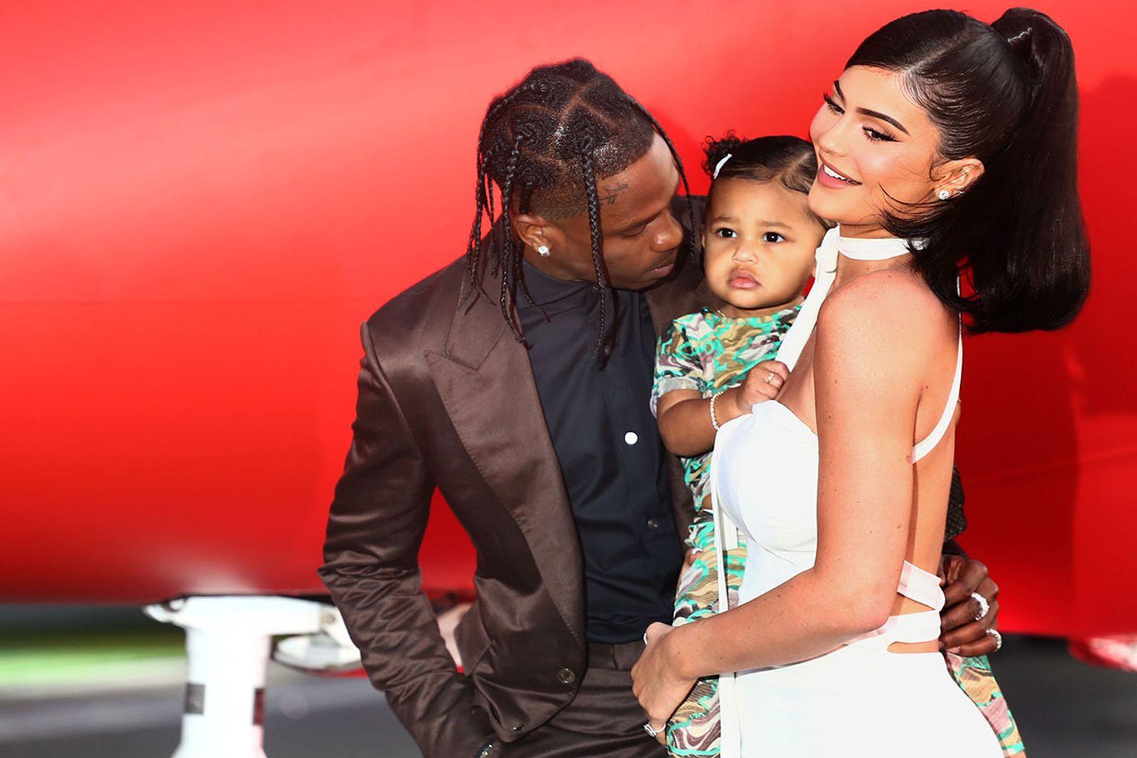 Travis Scott, Kylie Jenner and daughter stormi webster