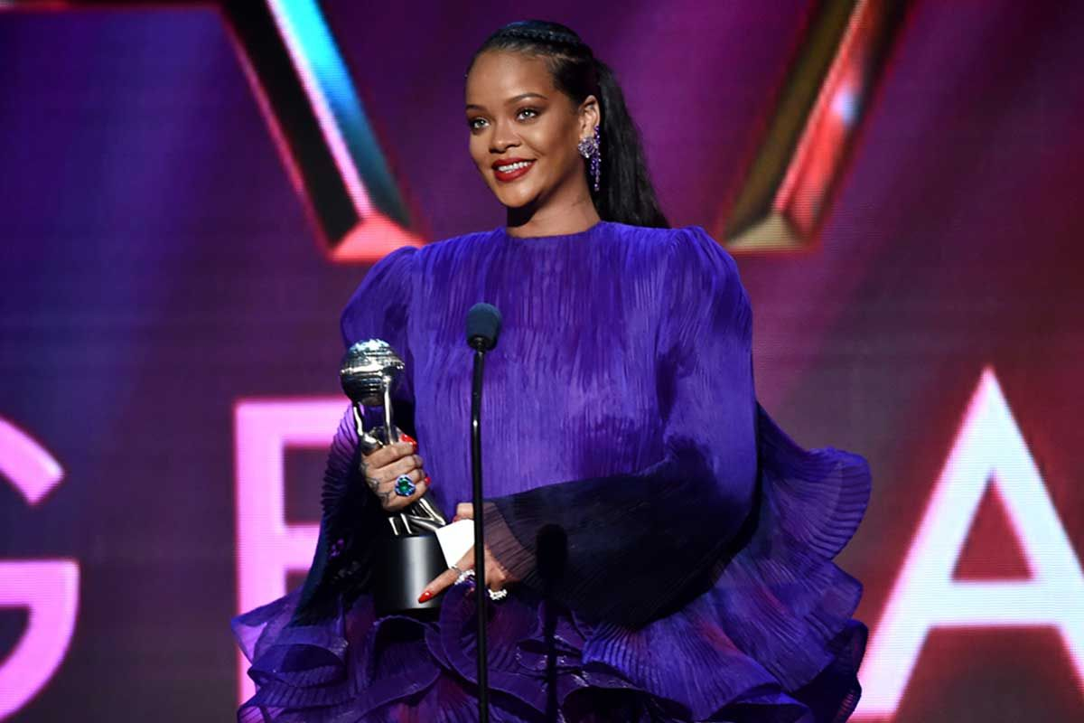 Rihanna accepts the President's Award onstage during the 51st NAACP Image Awards