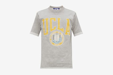 UCLA Print Flecked Cotton Blend T Shirt