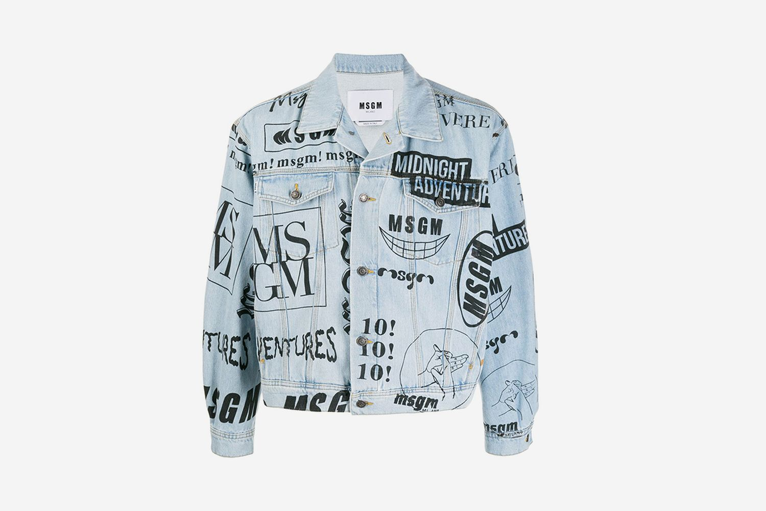 Logo-Print Denim Jacket
