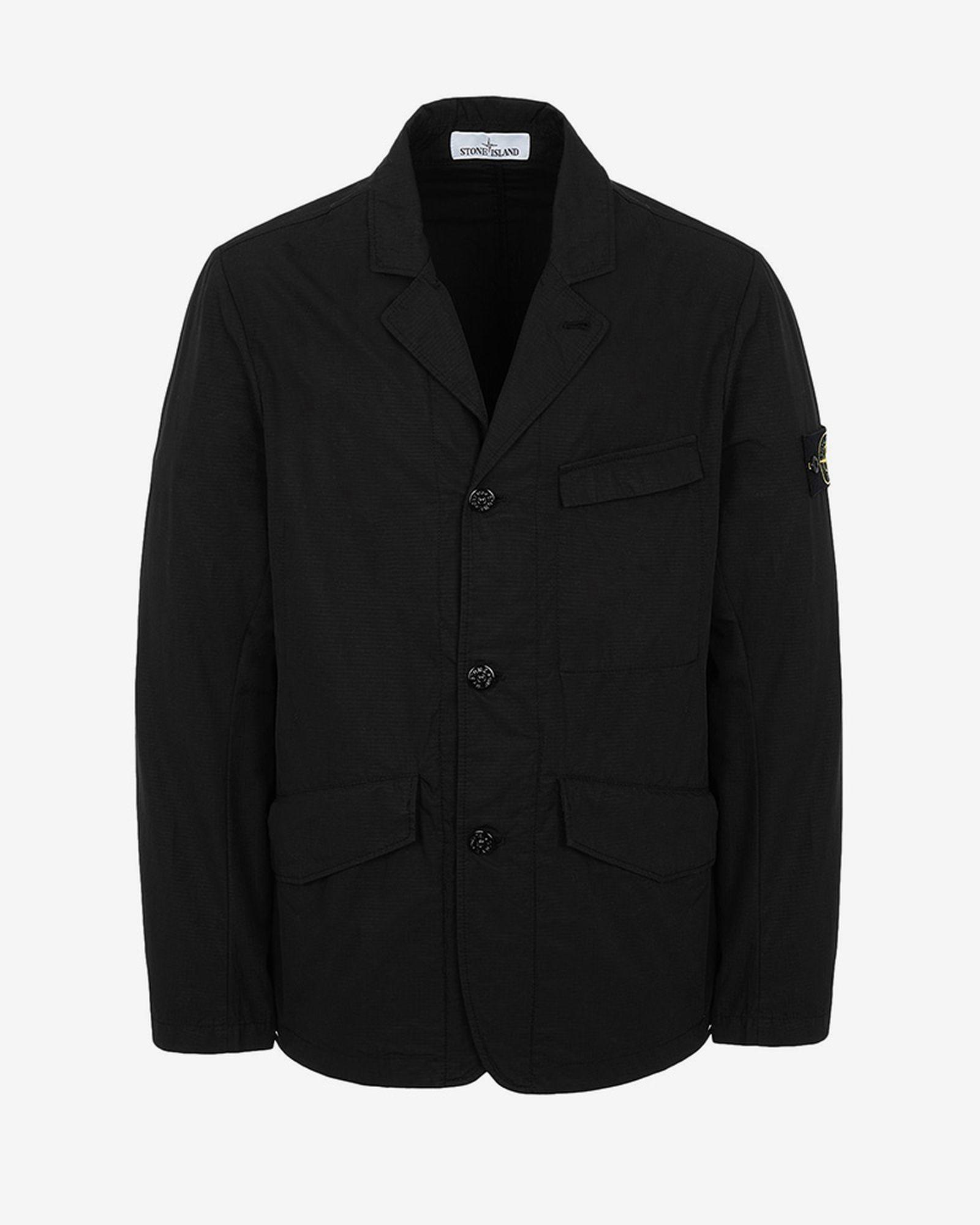 5stone island structured cotton blazer