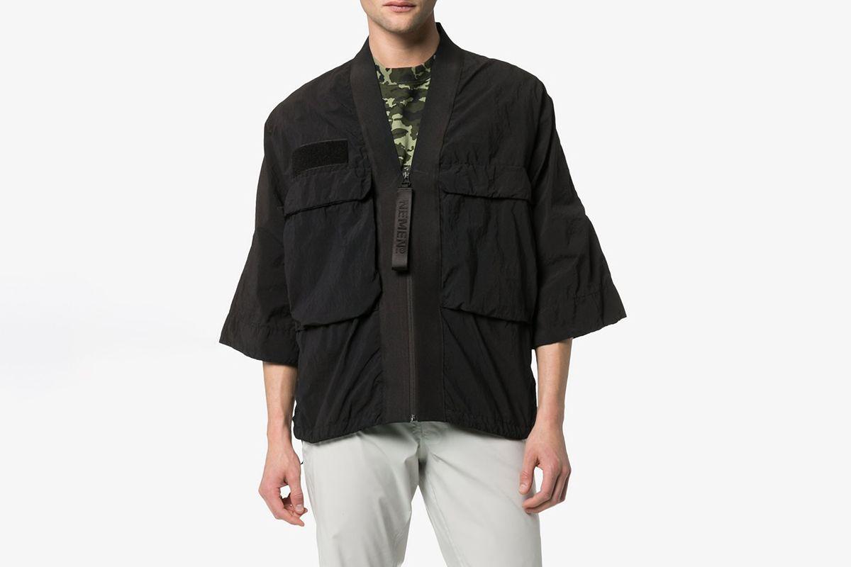 Pocket Detail Kimono Jacket