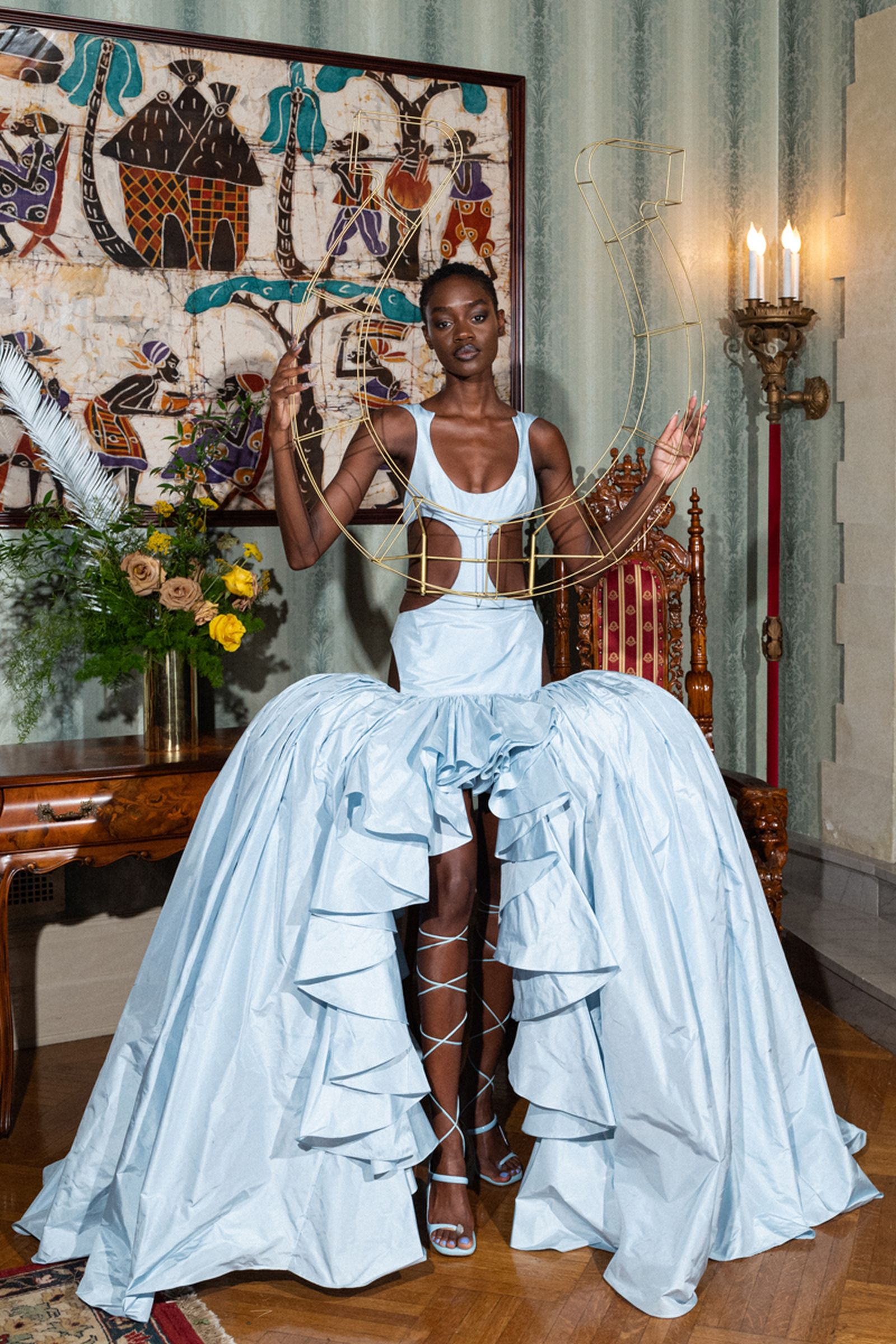 PYER MOSS COUTURE 1 FASHION SHOW : FIRST LOOKS