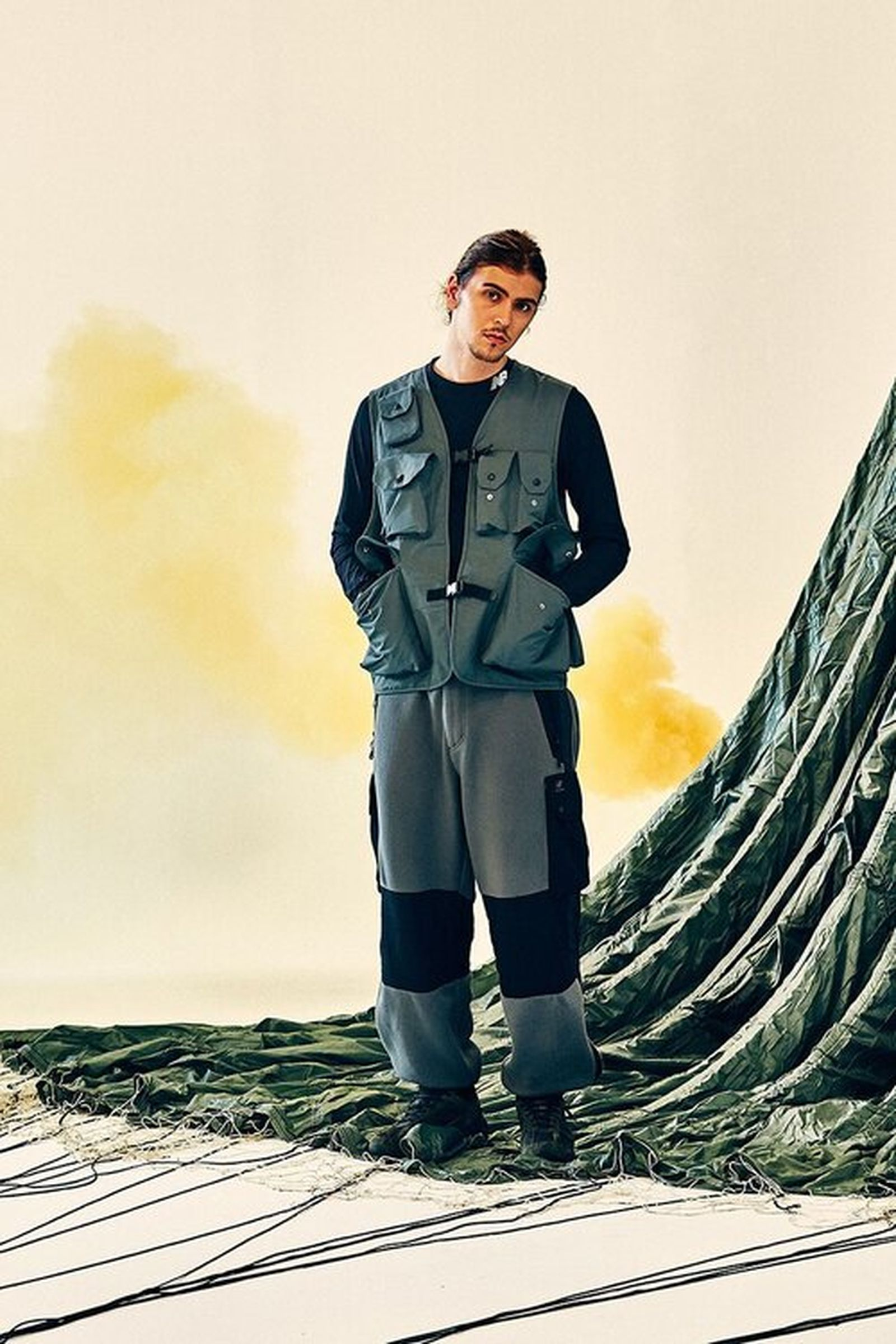 New Balance Eastlogue Rigger Made Gray utility vest