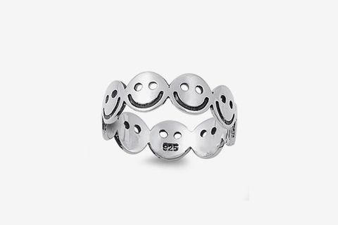 Smiley Face Eternity Ring