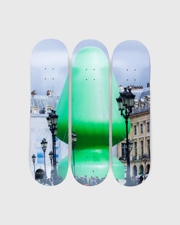 "The Skateroom x Highsnobiety — Paul Mccarthy ""Tree"" Skate Deck Set - Image 1"