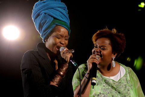 Erykah Badu and Jill Scott perform during the Sugar Water Festival