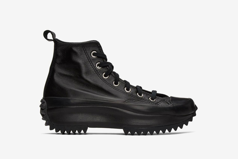 Leather Run Star Hike High-Top Sneakers