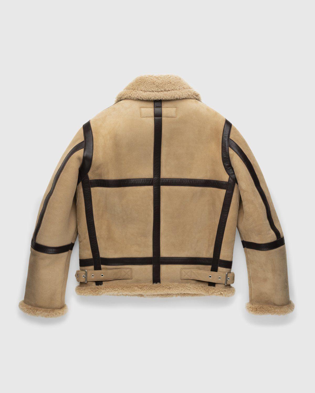 Acne Studios – Shearling Leather Jacket Almond Beige - Image 2