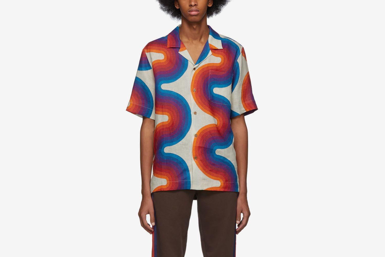 Off-White Verner Panton Edition Wave Carlton Bowling Shirt