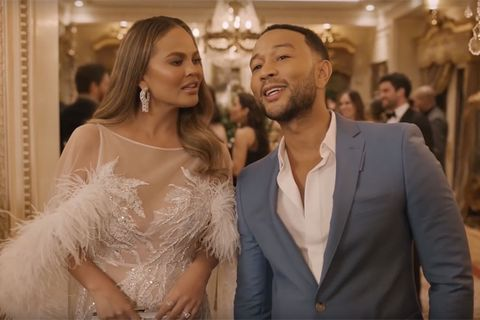 John Legend and Chrissy Teigen in Genesis ad for the super bowl