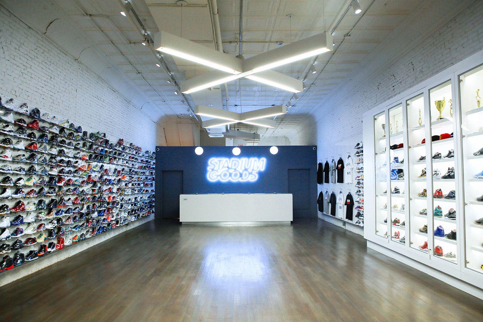 major sneaker reselling portal Flight Club GOAT stadium goods