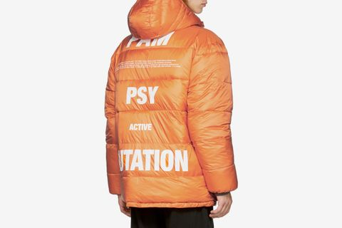 Reversible Orange First Contact Puffer Jacket