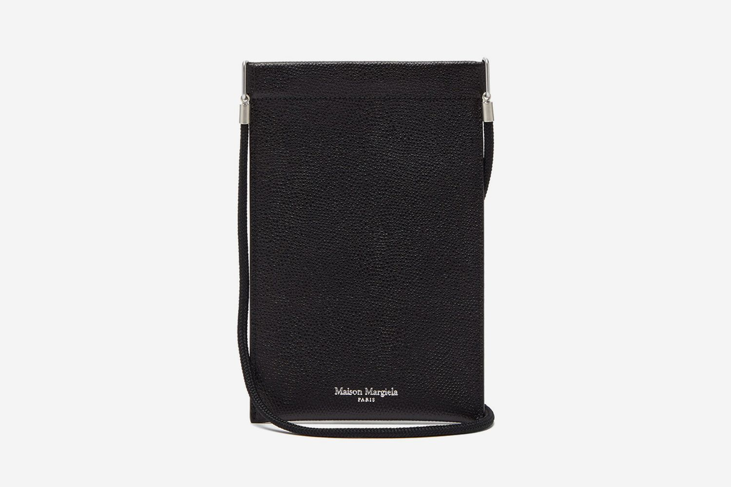 Grained-Leather Neck Pouch
