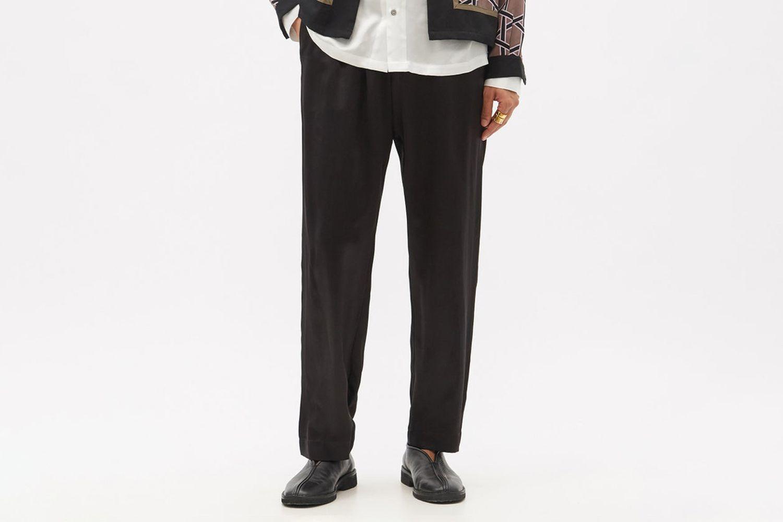 Drawstring-Waist Silk-Satin Trousers