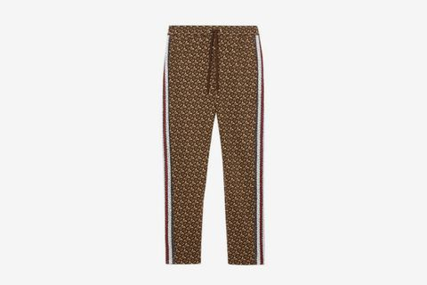 Monogram Stripe Print Trackpants