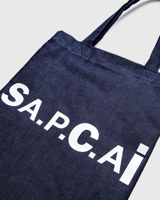 A.P.C. x Sacai — Tote Bag Holly Dark Navy - Image 4
