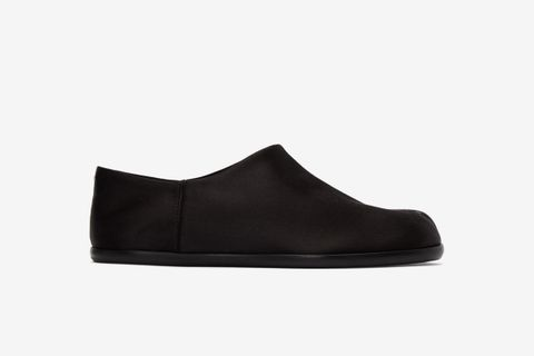 Satin Tabi Babouche Loafers