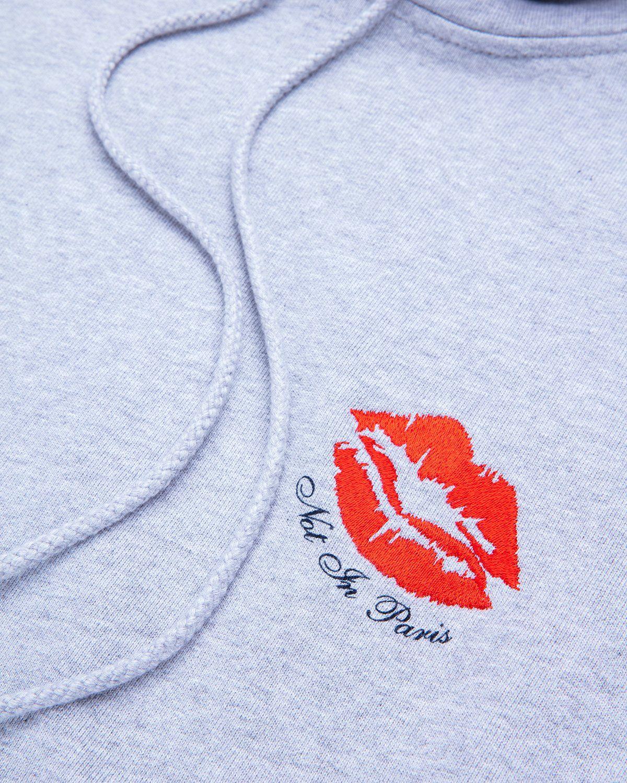 Highsnobiety — Not In Paris 3 Kiss Hoodie Grey - Image 3