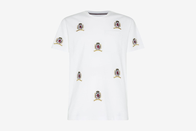 Hilfiger Collection Men's Allover Crest Pocket T-Shirt