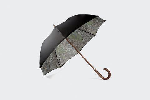 Map-Lined Umbrella
