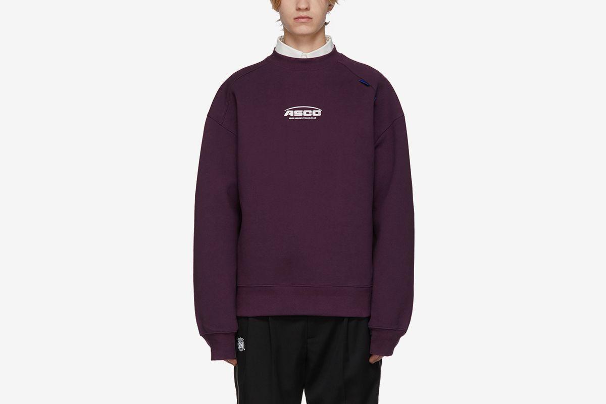 Purple ASCC Unbalanced Yoke Sweatshirt