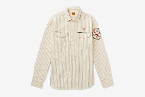 Striped Cotton-Drill Overshirt