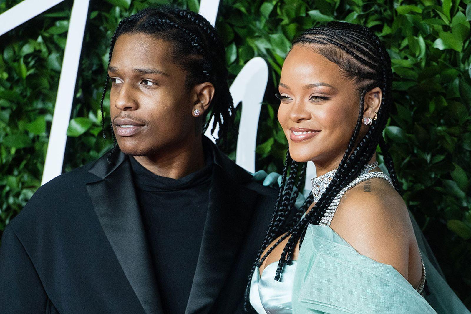 Rihanna and ASAP Rocky at the fashion awards
