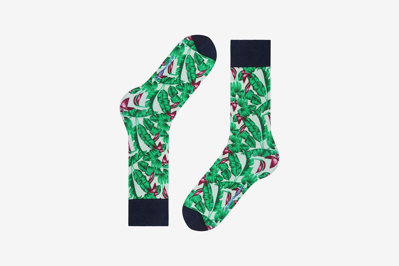 Hawaii Print Socks