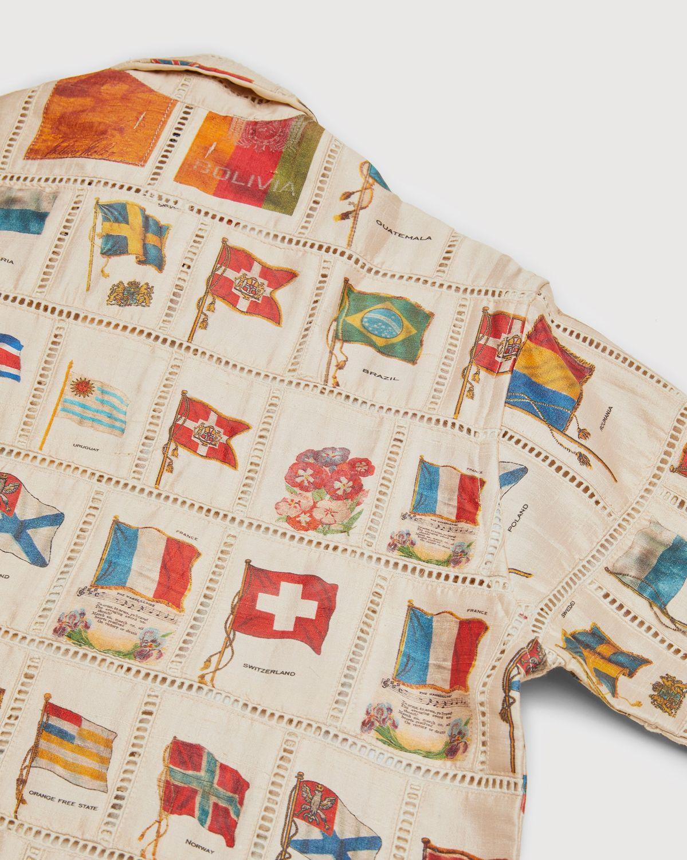 BODE — Tobacco Flag Patchwork Shirt Natural - Image 3