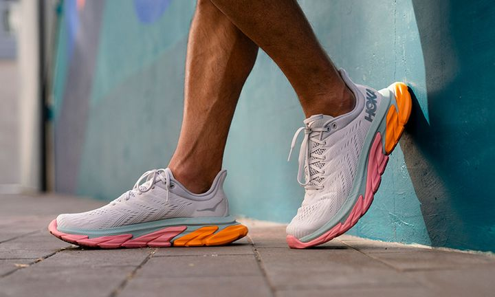 hoka one one clifton edge sneaker on-foot shot