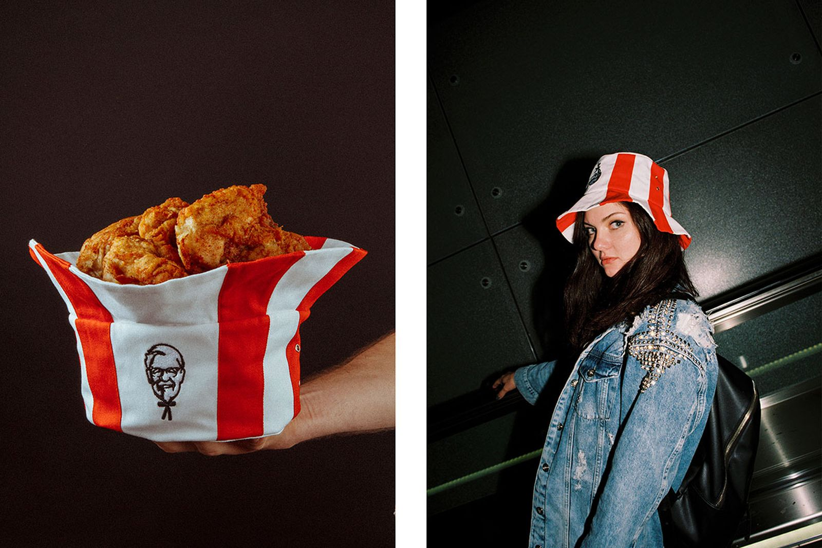 kfc russia launches limited edition bucket hat Mam Cupy