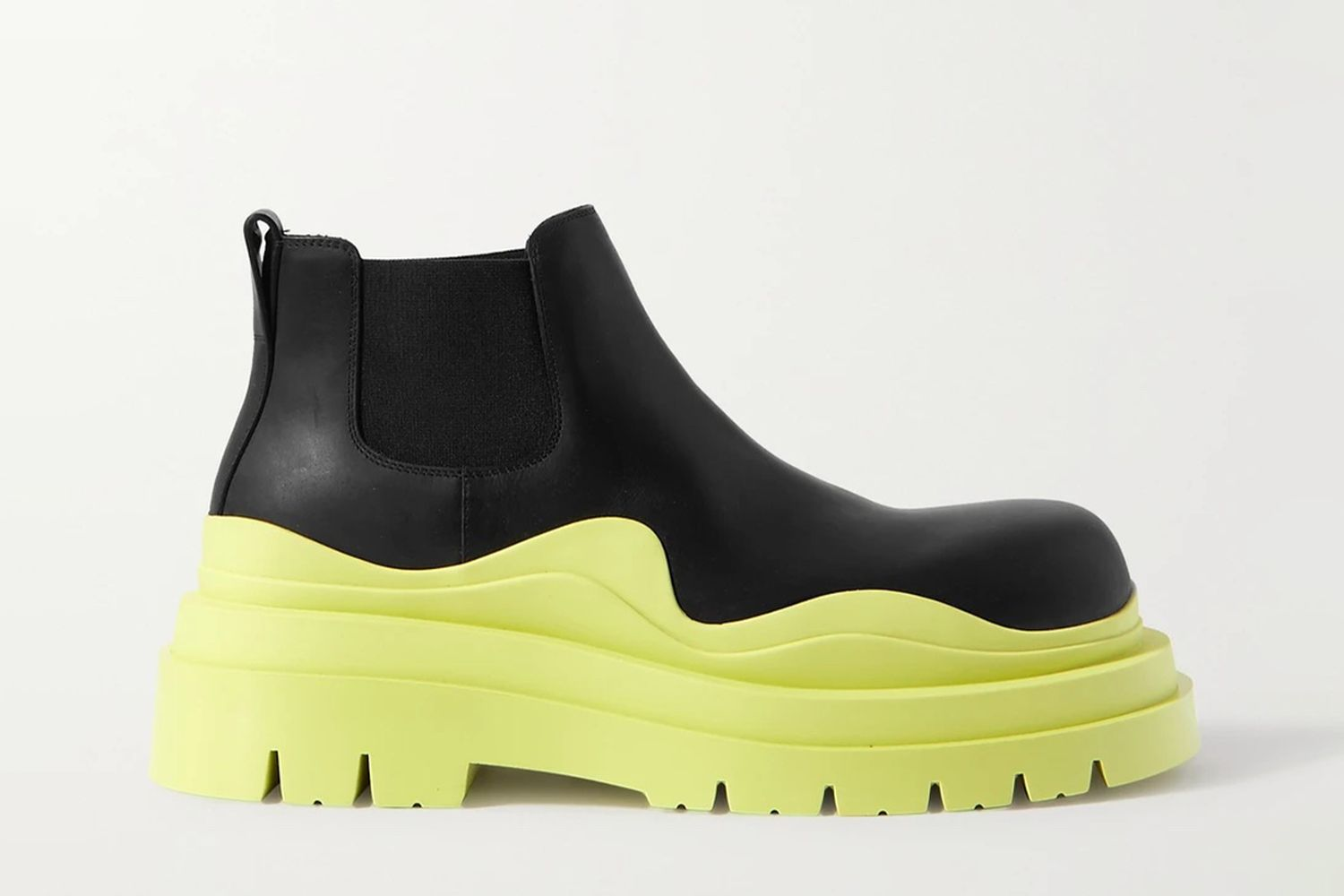 Tire Rubber-Trimmed Chelsea Boots