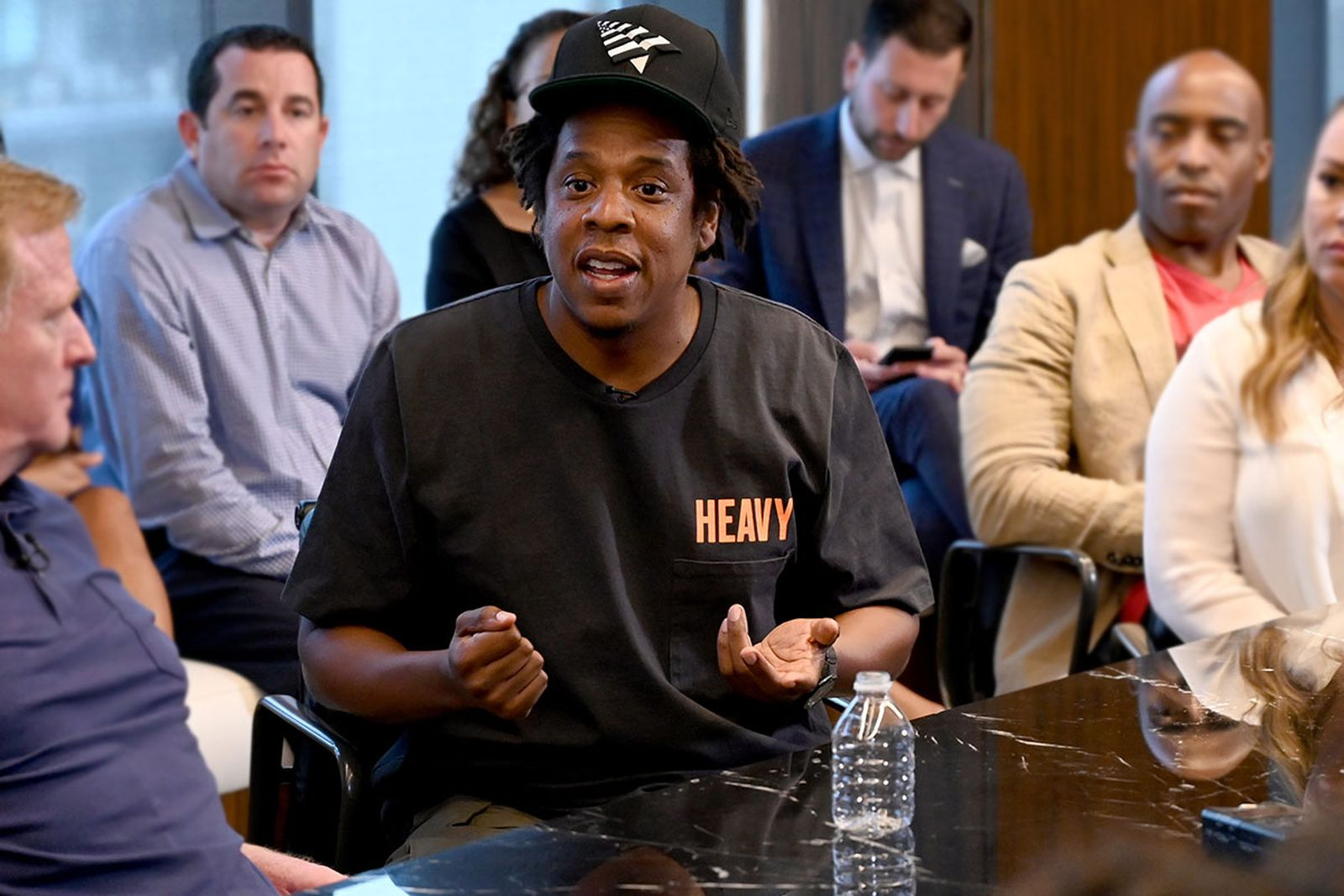 Jay Z at the Roc Nation and NFL Partnership Announcement
