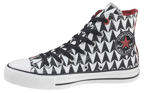 df696ac6ba8dd8 Edge of U2 s design is one of 100 footwear styles from the Converse 1HUND( RED) Artists collection