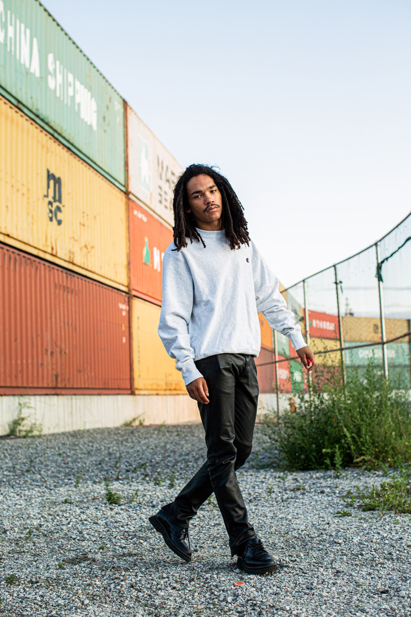 Luka Sabbat Outfit Leather Pants Hairstyle