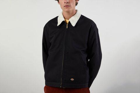 UO Exclusive Eisenhower Sherpa Lined Work Jacket