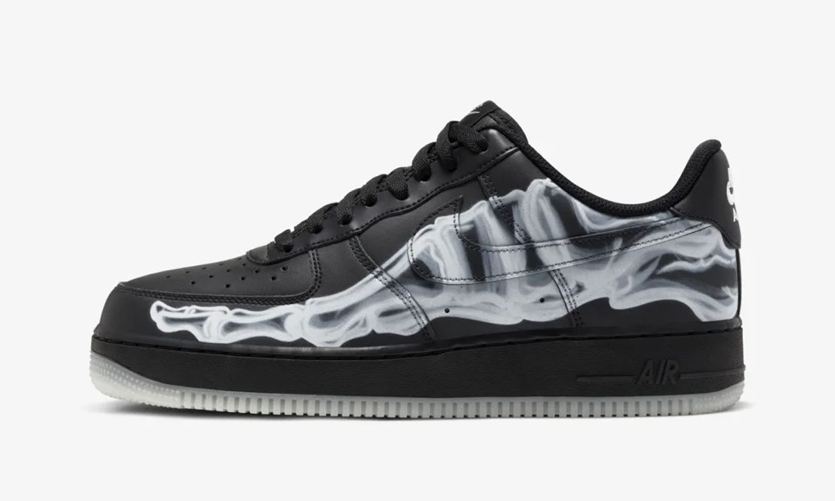 "The Halloween-Themed ""Black Skeleton"" Nike Air Force 1 Drops This Week"