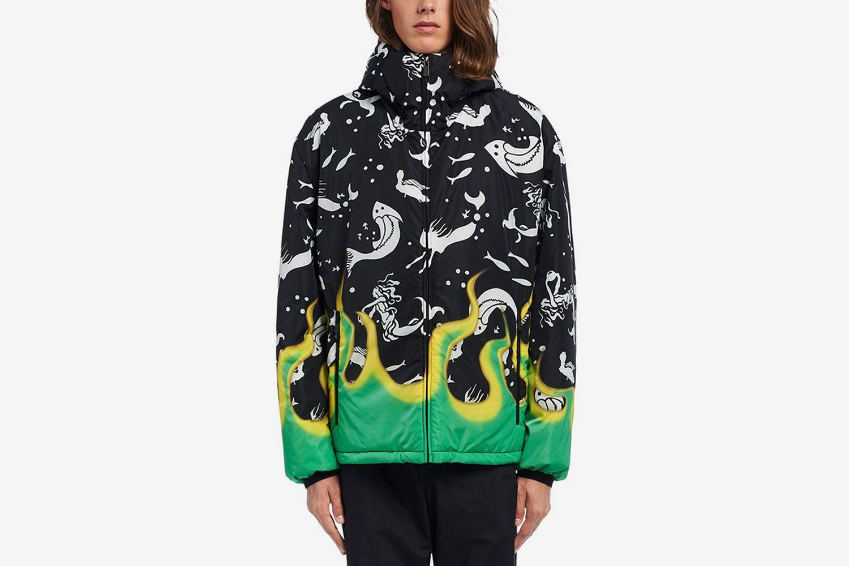 Mermaids & Flames Padded Jacket