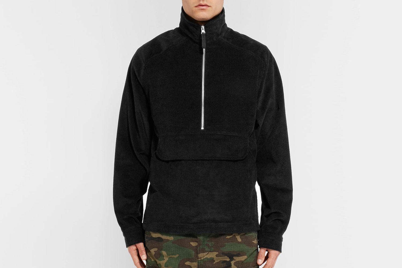 Corduroy Half-Zip Jacket