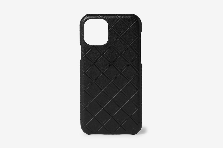Intrecciato-Embossed Leather iPhone 11 Case