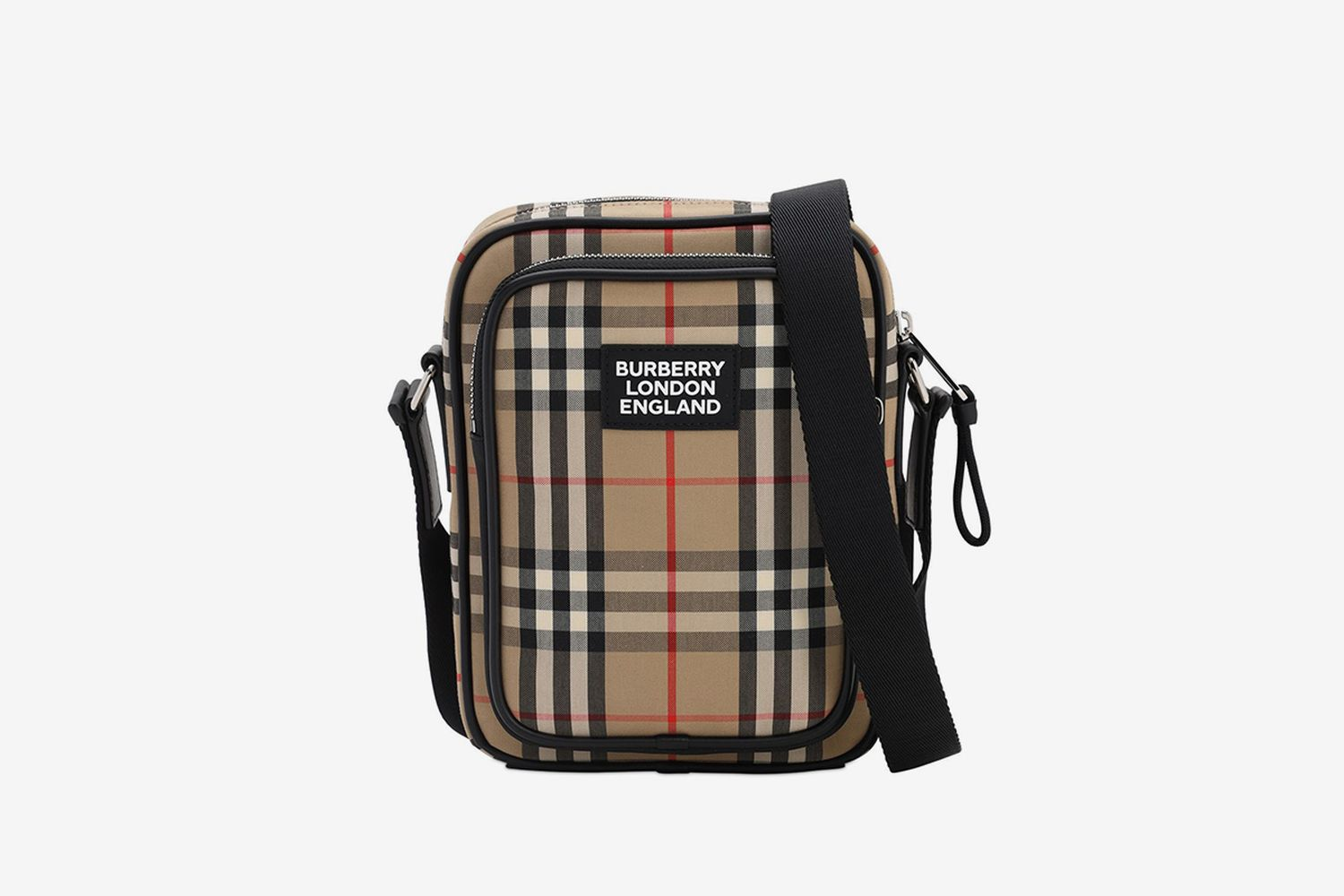 Logo Canvas Check Freddie Messenger Bag