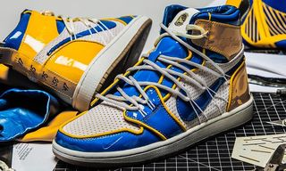 The Shoe Surgeon's Latest Sneaker Uses Authentic Golden State Warriors Jerseys & NBA Nets