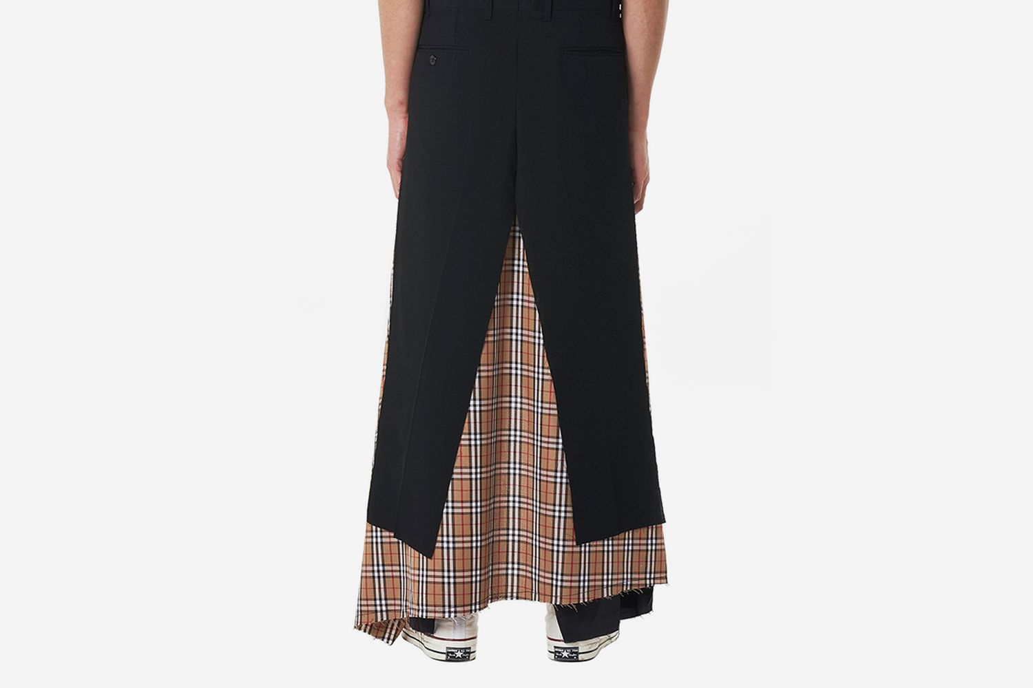 Layered Checked Skirt