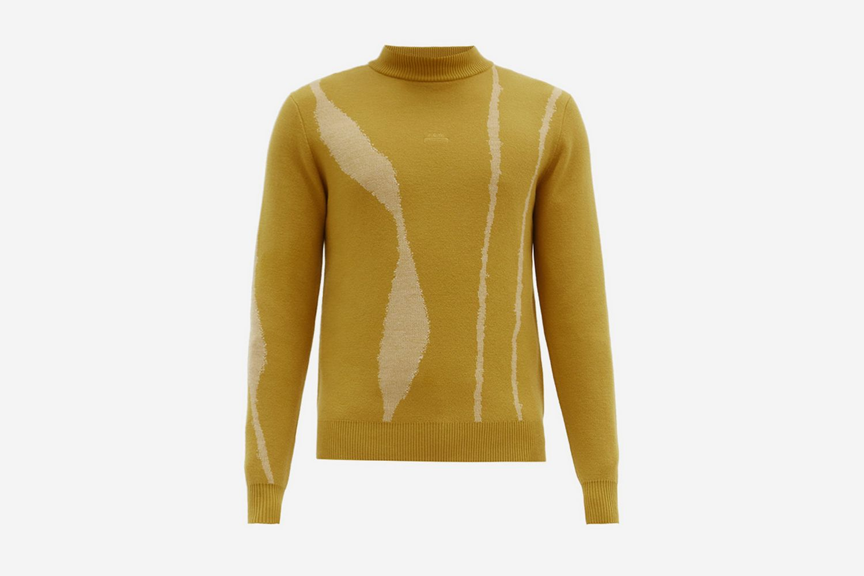 Terrain-Jacquard Wool Sweater