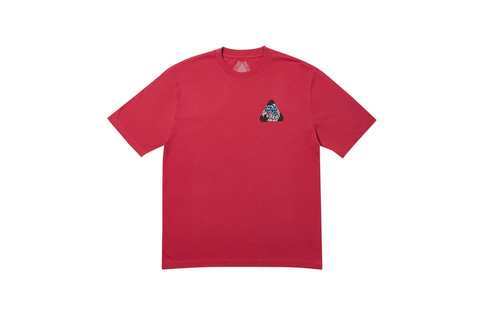 Palace 2019 Autumn T Shirt Ripped dark red front