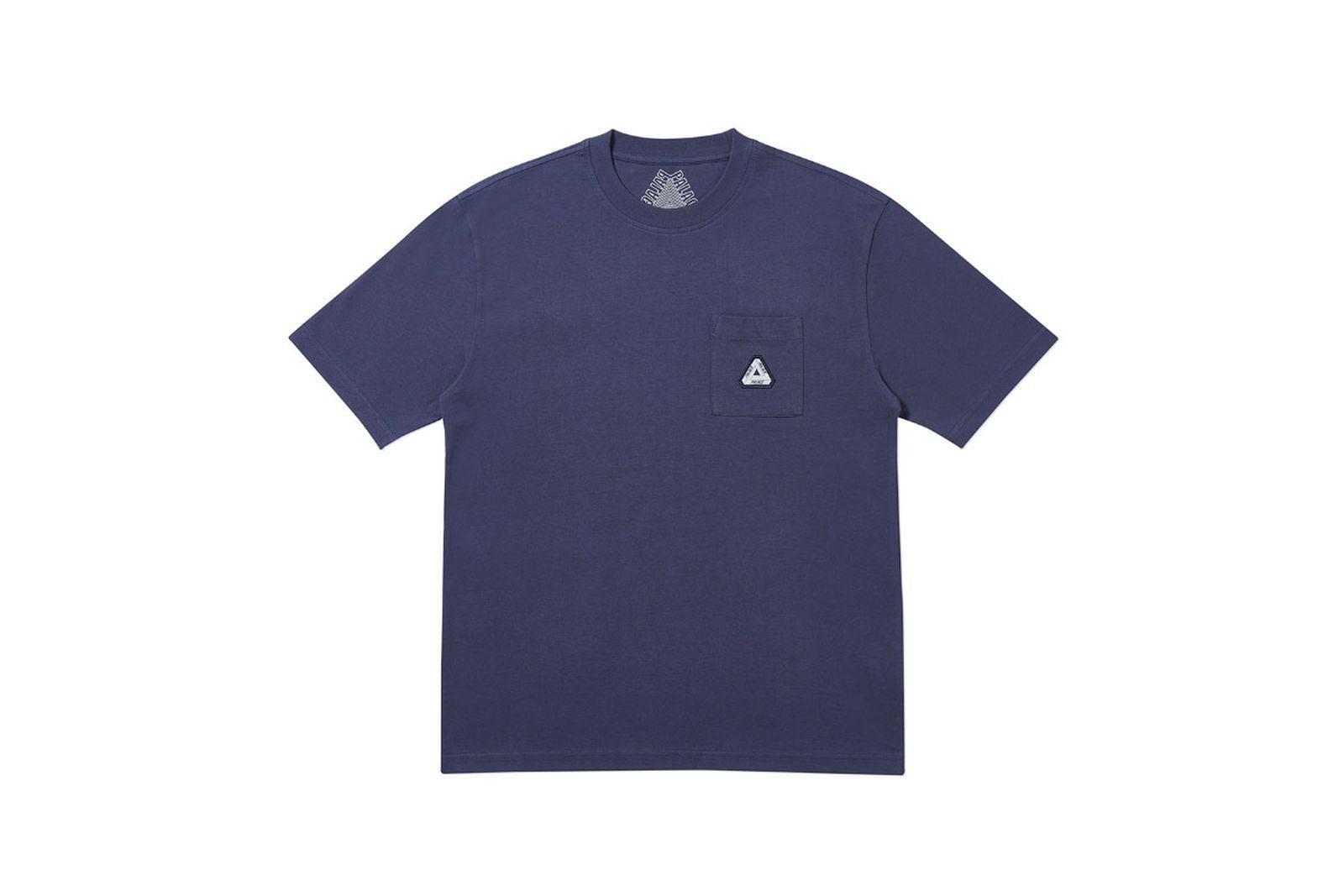 Palace 2019 Autumn T Shirt Pocket navy