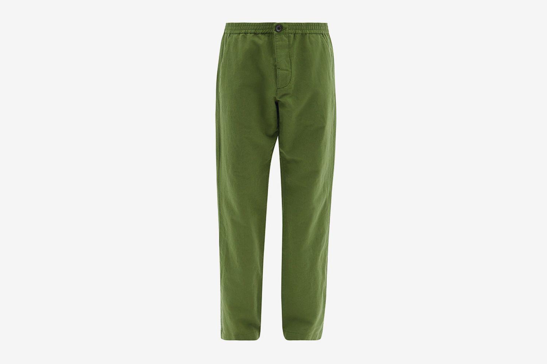 Linen-Blend Canvas Trousers